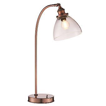 1 Leuchttischleuchte im Alter von Kupfer, Glas, E14