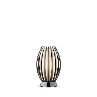 1 Lichte tafellamp chroom, rook, E27
