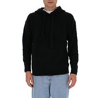 Laneus Cpu1005cc14blk Men's Black Cashmere Sweatshirt