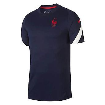 2020-2021 فرنسا نايكي التدريب قميص (البحرية)