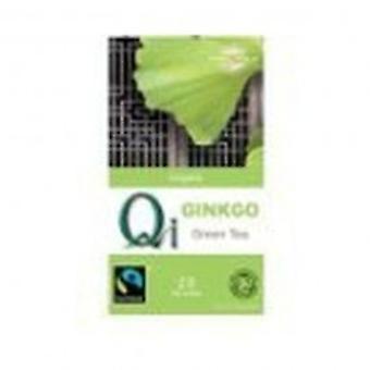 Qi - Organic Fairtrade Green Tea with Gingko Leaf -  25bags
