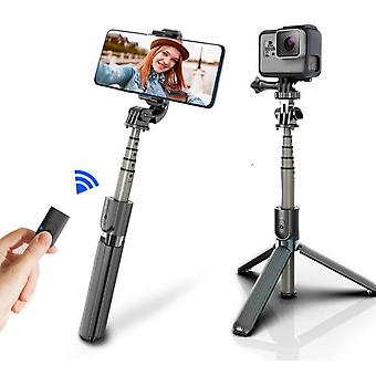 High Quality Wireless Bluetooth Selfie Stick Tripod With Remote, Foldable