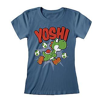 Super Mario Femmes/Dames Yoshi T-Shirt