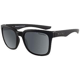 Dirty Dog Blade Satin Polarised Sunglasses - Black/Grey