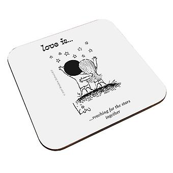 Love Is Reaching For The Stars Together Coaster