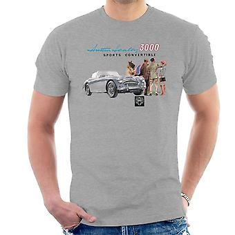 Austin Healey 3000 Sports Convertible British Motor Heritage Men's T-Shirt