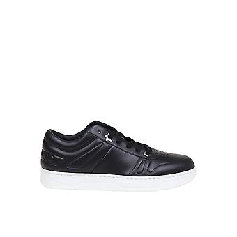 Jimmy Choo Hawaiimtcoblack Men's Black Leather Sneakers
