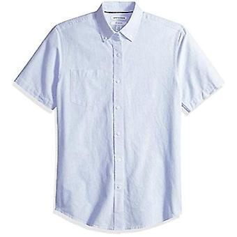 Essentials Men's Slim-Fit Short-Sleeve Pocket Oxford Shirt, Lavender S...