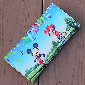 Cartoon Mickey Minnie Mouse Pu Leder süße Brieftasche