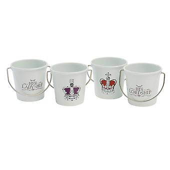 Eddingtons Egg Cup Set Lord / Ladyship x 4 83042