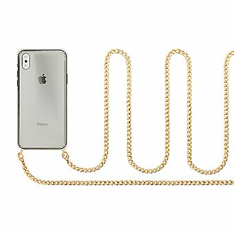 Custodia Aquarius iPhone 6/6S con cavo catena collana, oro