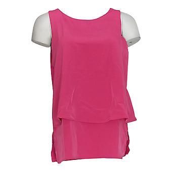 DG2 di Diane Gilman Top Pink Tunic Polyester Short Sleeve 721-917