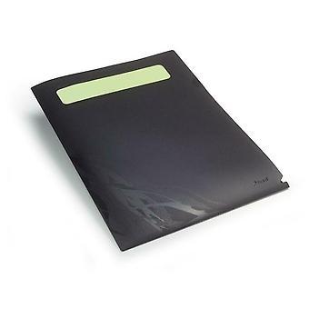 Rexel A4 Document Envelope Wallet File Folder Plastic Transparent Black Pack 5