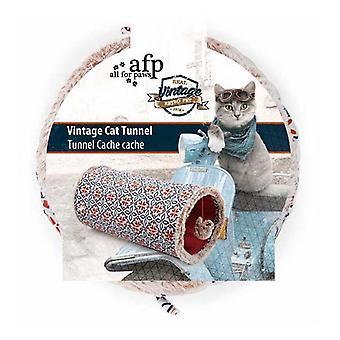 Cat Tunnel Crinkle Toys Pomarańczowa skóra grać teaser kryty odkryty vintage