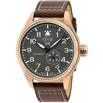 GV2 Men's Aeuronautica Grey Dial Brown Calfskin Leather Watch