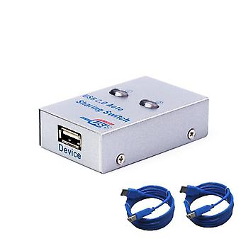 Usb Auto Sharing Switch Converter Splitter  Computer Peripherals For 2 Pc