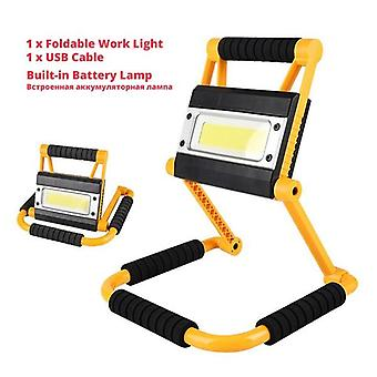 Usb Charging Work Light,  Folding Rotary Outdoor Portable Double Head Cob