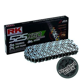 RK 525 XSO 114 Link RX-Ring Motorcykel Cykel Kæde Sort