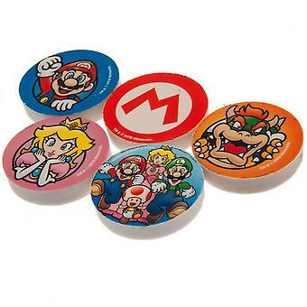 Super Mario Eraser (Pack of 5)