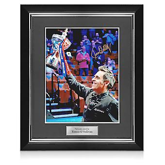Ronnie O'Sullivan Signed Snooker Photo: Sixth World Snooker Title. Deluxe Frame