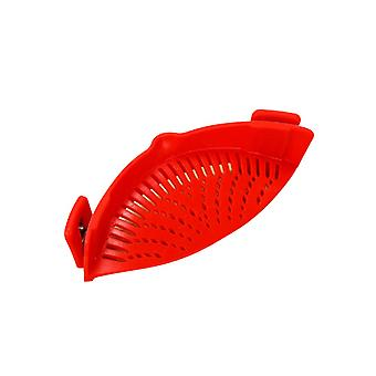 Snap N Strain Strainer with 2 Clip On Silicone Colander,Fits all Pots and Bowls