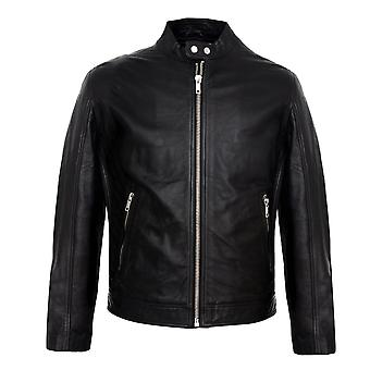 Brayden mens genuine moto leather jacket