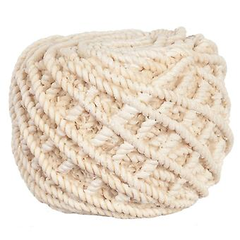Dolls House Round Knitted Rope Pouffe Footstool Modern Living Room Meubles