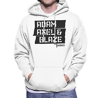 Sega Calles de la ira Adam Axel y Blaze Hombres's Sudadera con capucha