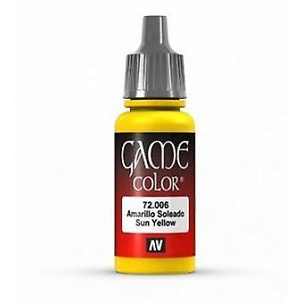 Vallejo Game Color 17ml Acrylic Paint 6 Sunblast yellow