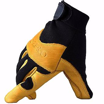 Men's Work Driver Gloves, Leather Security Protection, Wear Safety Workers