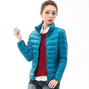 Collier de stand de femme, mince short ultra léger down jackets vêtements féminins, manteau