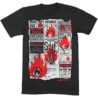 Stiff Little Fingers Flyer Official Tee T-Shirt Mens Unisex