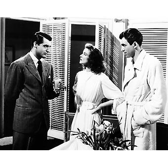 Philadelphia Story Cary Grant Katharine Hepburn James Stewart 1940-valokuvatulostus