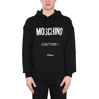 Moschino 172920271555 Männer's schwarze Baumwolle Sweatshirt