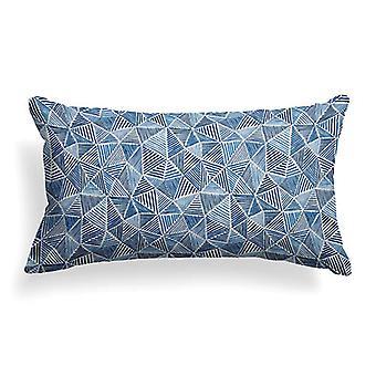 """Trifecta Printed Woven Decorative Lumbar Pillow 22"""" X 12"""""""