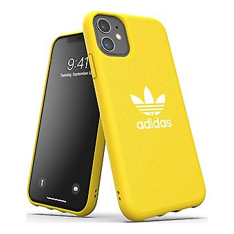 adidas oder geformte Canvas iPhone 11 Backcover Fall - gelb