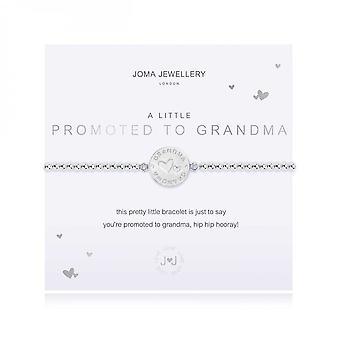 Joma Jewellery A Little Promoted To Grandma Silver 17.5cm Stretch Bracelet 3887