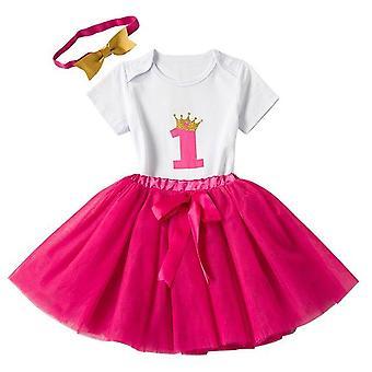 Lovely Girls Romper Skirt + Headband Outfit , Design 1