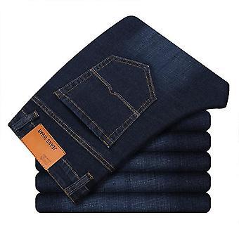 Men's Fashion Jeans, Business Casual Stretch Slim Classic Trousers, Denim