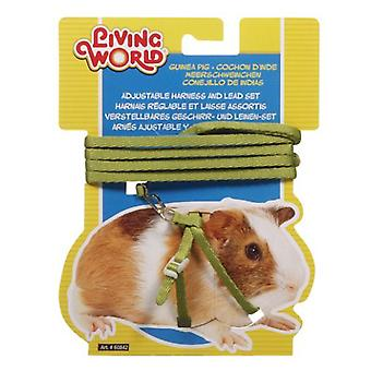 Living World L.W. HARNESS IN GREEN FOR GUINEA PIGS (Small pets , Leads & Harnesses)