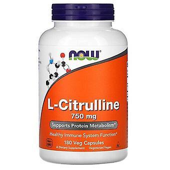Now Foods, L-Citrulline, 750 mg, 180  Veg Capsules