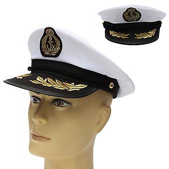 Captain Skipper Sailor Boat Hat Costume Navy Ship Costume Party Fancy Cap