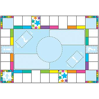 """Smart Poly Chart, 13"""" X 19"""", Game Board Squares"""