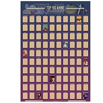 100 Anime Scratch Off Poster Anime Bucket List Premium And Artistic Icons Great