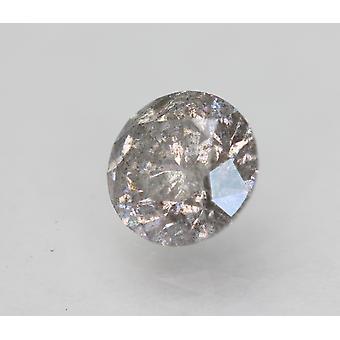 Cert 1.22 Karat Fancy Harmaa Hopea SI2 Pyöreä Brilliant Natural Diamond 6.71mm 3VG