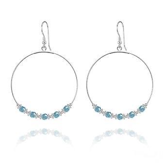 Large turquoise hoop earrings