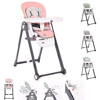 La chaise haute pour enfants Lorelli PARTY roule la table de dossier de dossier de recul de hauteur sont réglables