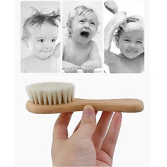 3buc pieptene de lemn Perie de păr Care Copii Masaj Baby Kit