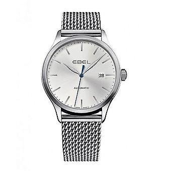 Ebel 100 Classic Steel Case Silver Dial Automatic Men's Watch 1216148