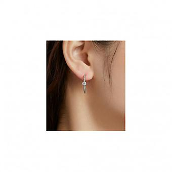 Silver Earrings Twisted - 7064